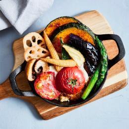 彩り野菜の焼きチーズカレー